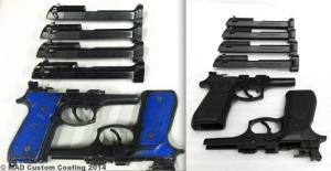 Before & after Beretta M9