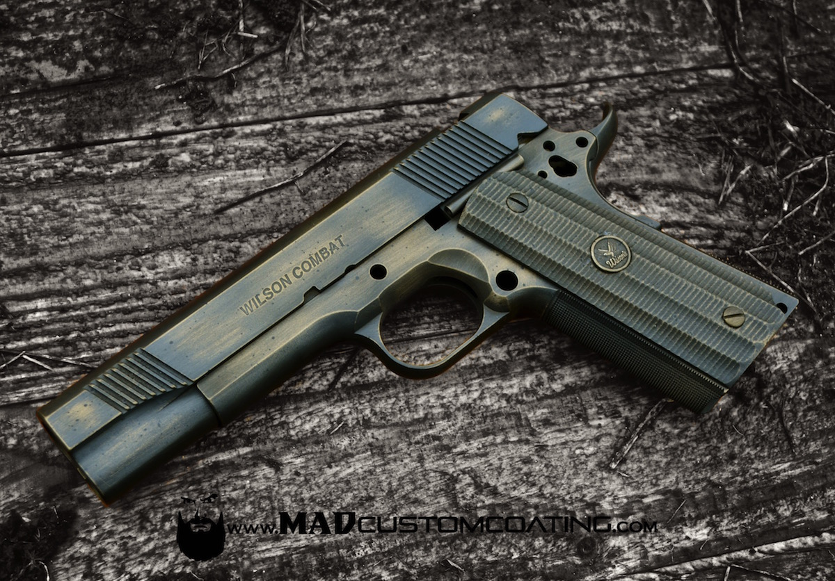 What Colors Match Grey War Torn On A Wilson Combat 1911 In Burnt Bronze Amp Black