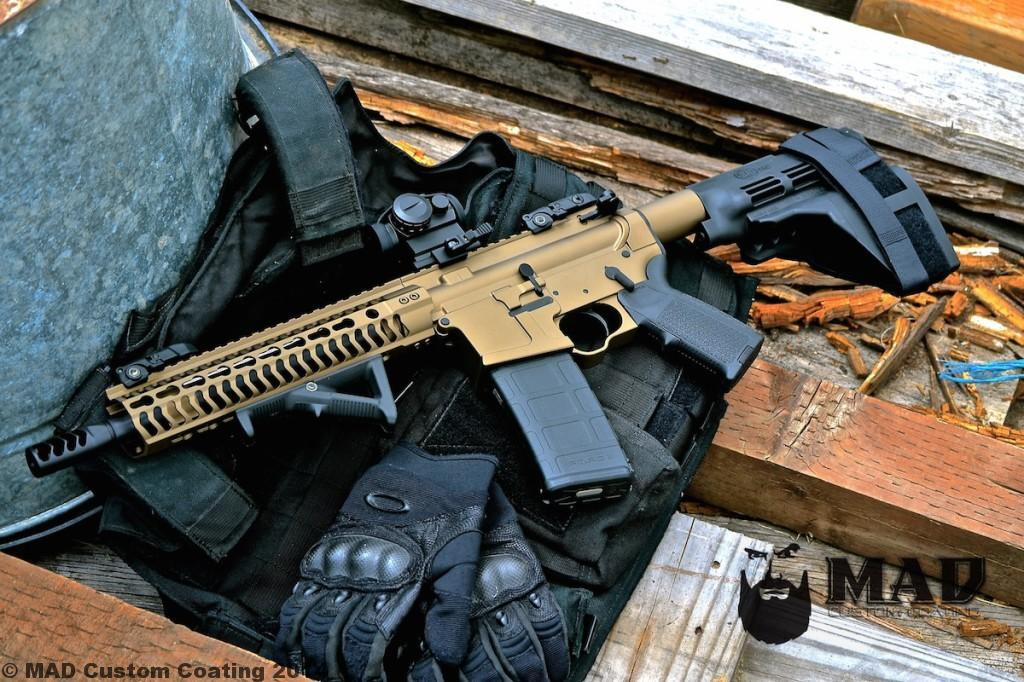Ar15 pistol in cerakote burnt bronze micro slick mad for Ar 15 decorations
