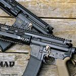 Pair of Spike's Tactical rifles in MAD Black & Magpul FDE Color Fill