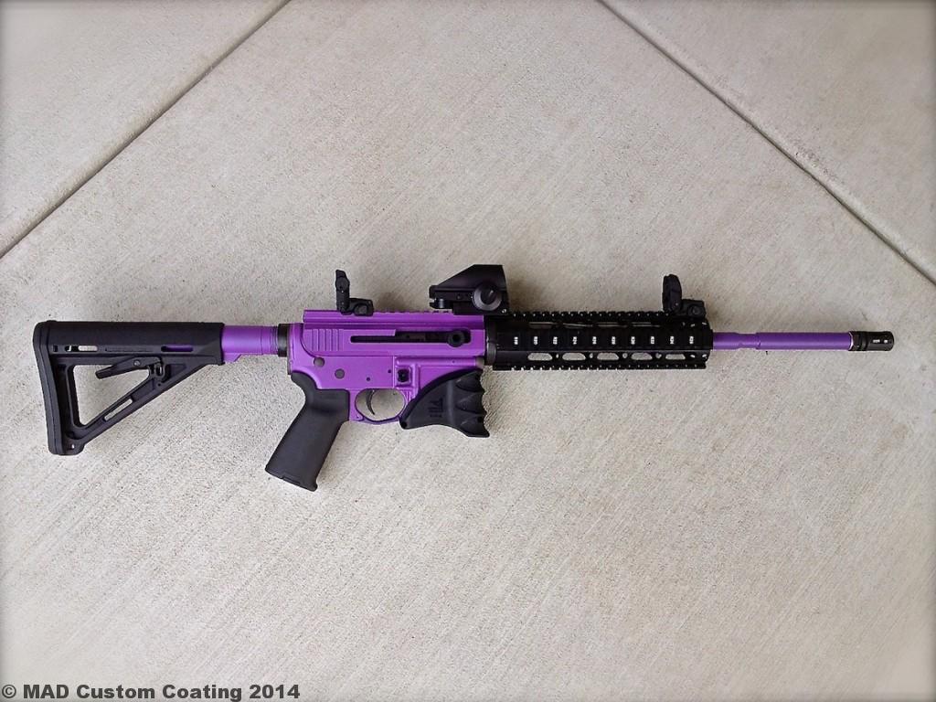 Ar15 In Cerakote Bright Purple Mad Custom Coatingmad