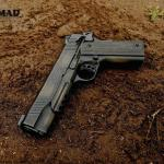 Kimber Warrior 1911 in War Torn w/Burnt Bronze and MAD Black