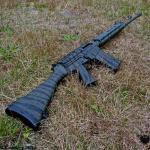 FN FAL in Cerakote OD Green & MAD Black Tiger Stripes