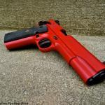 ATI 1911 .22 in Cerakote Smith & Wesson Red & MAD Black