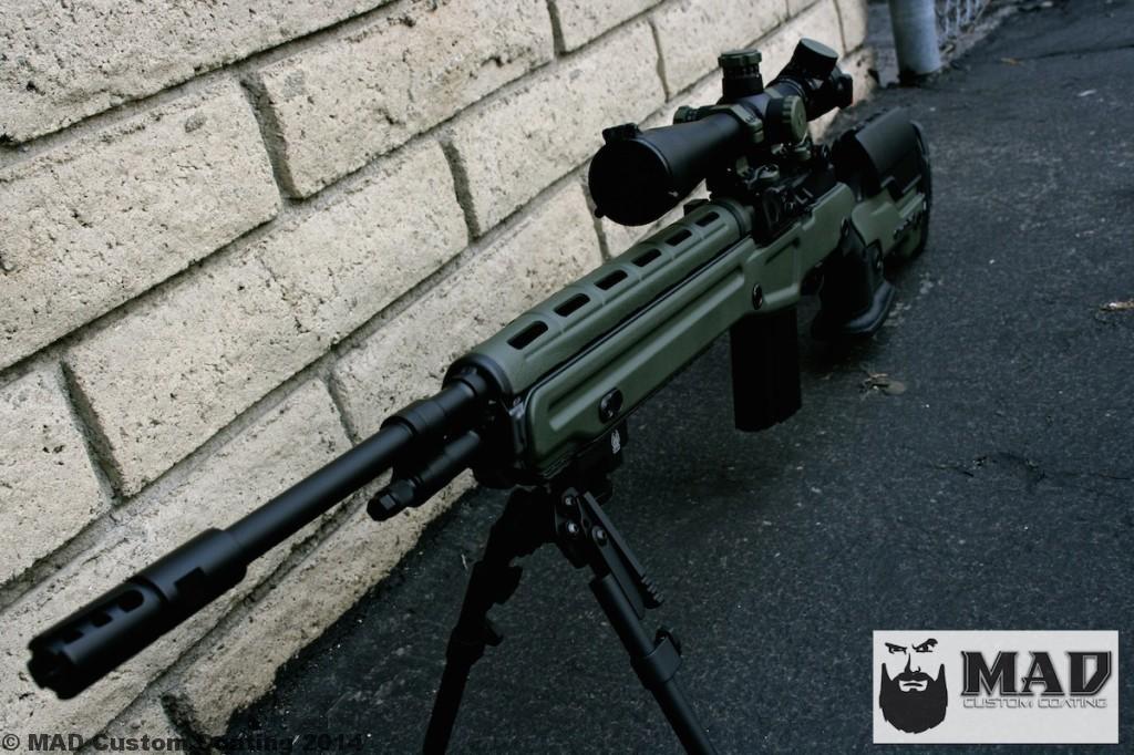 M1a In A Jae Stock In Cerakote Od Green Graphite Black Mad