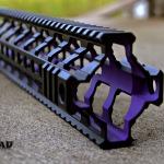 Fortis REV rail in Cerakote Bright Purple and MAD Black