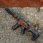 Hexmag AR15 in MAD Hex pattern with a custom mix Burnt Orange