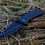 Kershaw folder in MAD Black w/ Thin Blue Line