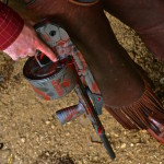 Street Sweeper Shotgun in MAD Dragon using: MAD Red, MAD Black & Tungsten Cerakote