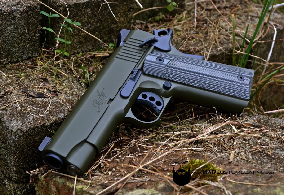 Kimber 1911 In Cerakote Sniper Grey Od Green Mad Custom