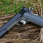 Colt 1911 in Cearkote Magpul OD & MAD Black w/ Flame
