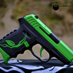 SCCY 9mm in an Alien Gear theme w/ MAD Green & MAD Black