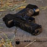 S&W M&P in MAD Hex w/ MAD Skulls in MAD Black & Burnt Bronze