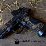 M&P in MAD Hex & Skull pattern using MAD Black & Burnt Bronze