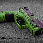 Springfield XD Mod 2 in an Alien Gear Theme using MAD Black & MAD Green