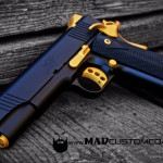Kimber 1911 in MAD Black and Gold