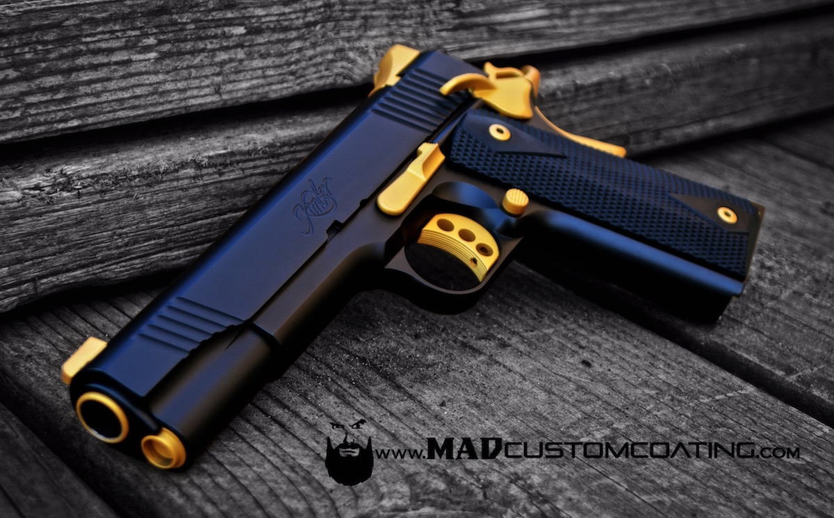 Kimber 1911 In Mad Black And Gold Mad Custom Coatingmad