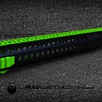 Zombie Green & MAD Black on a Head Down Rail