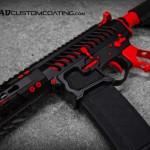 MAD Black & USMC Red on an F1 Firearms AR15