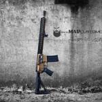 MAD Black & Burnt Bronze on an AR15