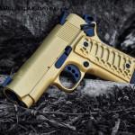 Cerakote Gold & MAD Black on a Colt 1911