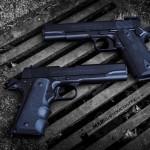 MAD Black on 2 Colt 1911 handguns