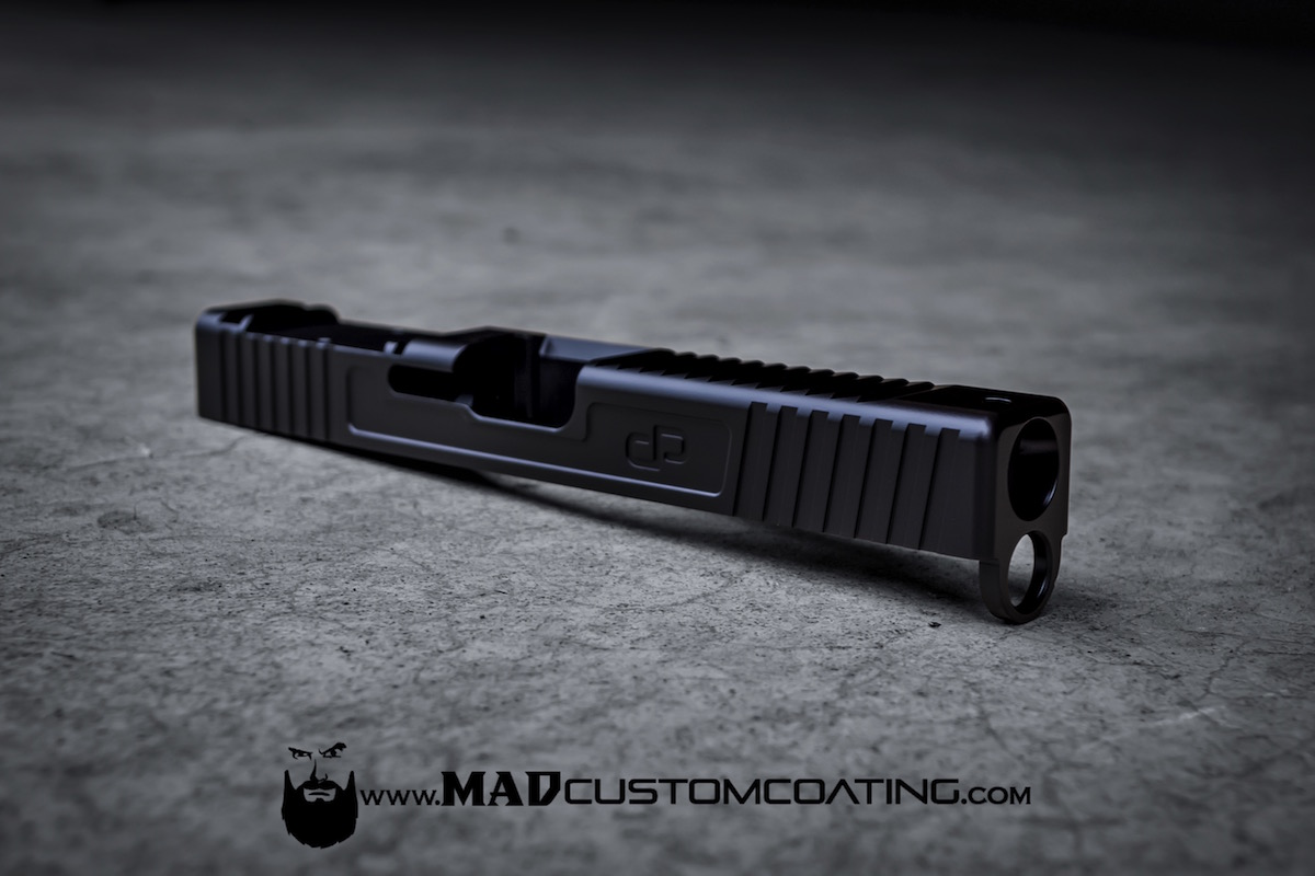 Mad black on a dp customs glock slide