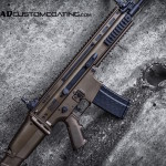 Midnight Bronze & MAD Black on an FN SCAR 16