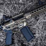 Dark Bronze & MAD Black on a Sharps Bros Warthog AR