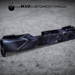 MAD Dragon Camo on a Glock slide