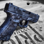 Skull Camo on a Glock 19 in MAD Black & Sniper Grey