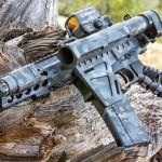 MADLand Urban Camo on an AR pistol