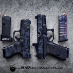 MADLand Camo on a pair of Glock pistols