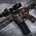 MAD Dragon Camo in MAD Black, Smith's Grey  & Sniper Grey w/ Orange accents