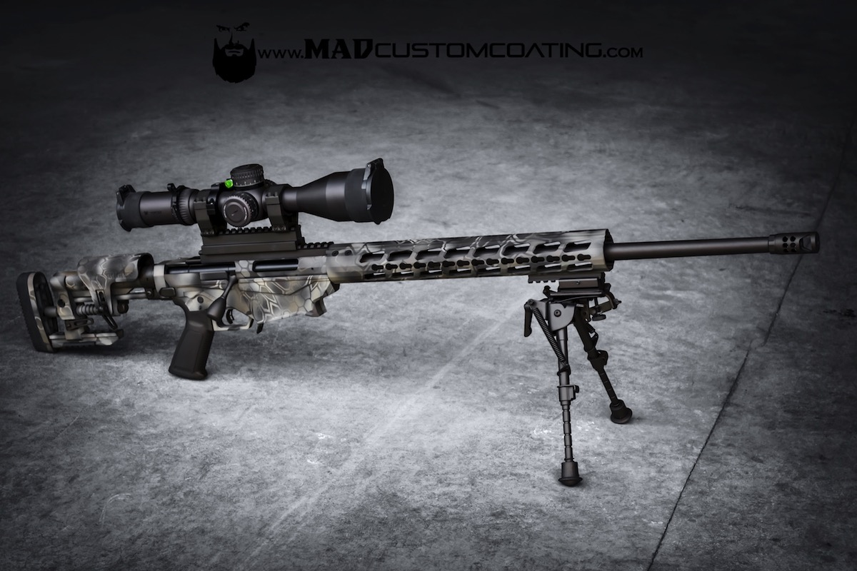 MAD Dragon Camo on a Ruger Precision Rifle - Mad Custom CoatingMad Custom Coating