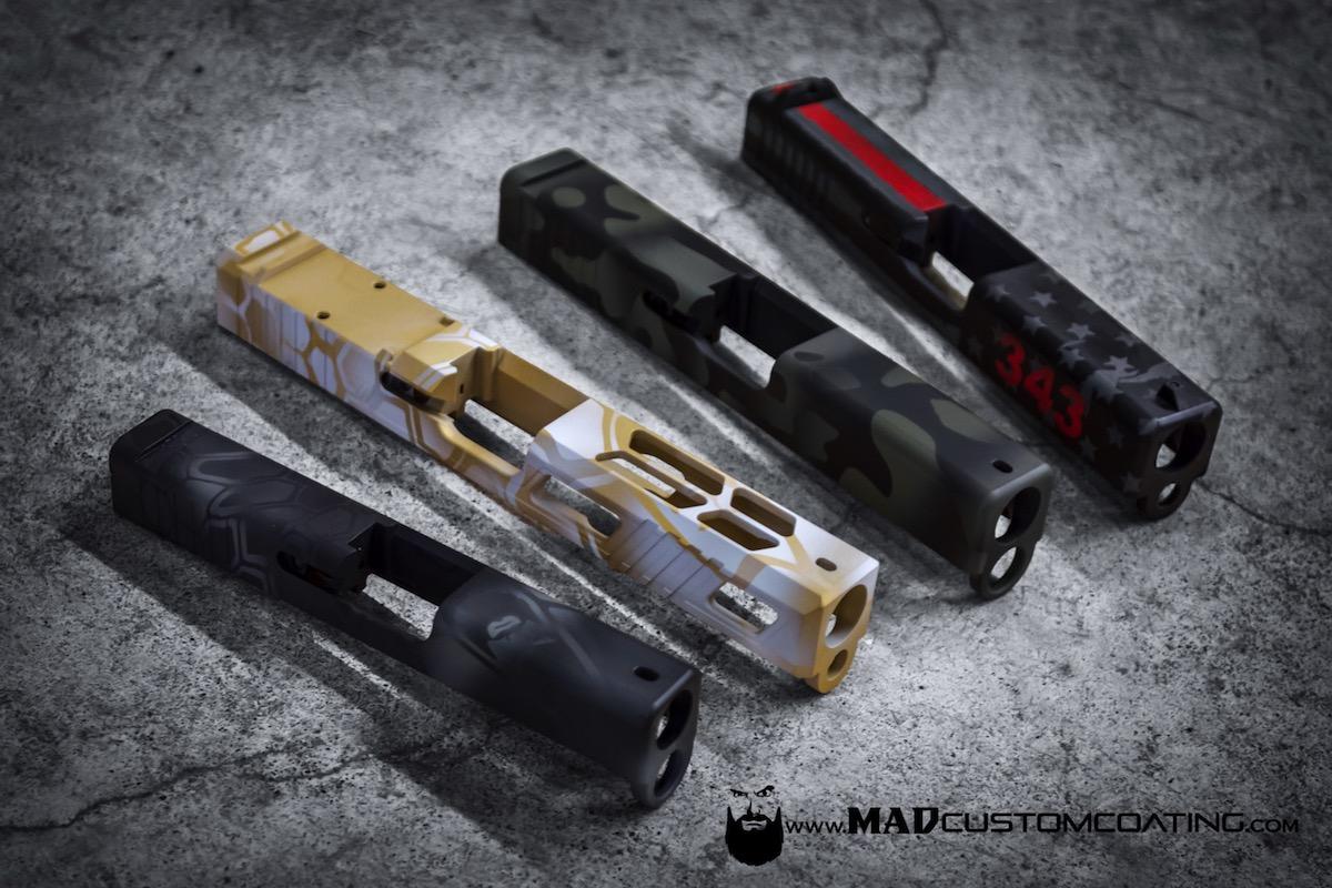 Glock Slides in Various Patterns - Mad Custom CoatingMad Custom Coating