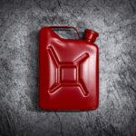 red jerrycan, flask, cerakote