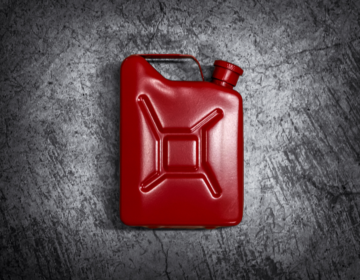 red jerrycan, flask, cerakote