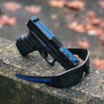Glock 43 & Oakely Gascans in Thin Blue Line Theme